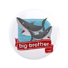 "Big Brother Shark 3.5"" Button"
