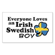 Irish Swedish Boy Decal