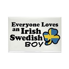 Irish Swedish Boy Rectangle Magnet