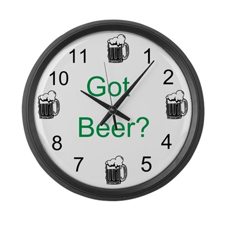 Got Beer? Large Wall Clock