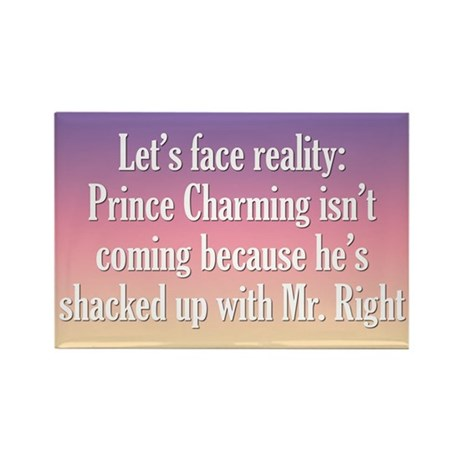 Prince Charming & Mr. Right Rectangle Magnet
