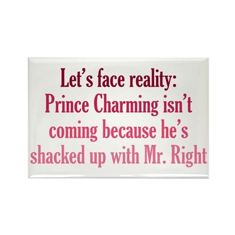 Prince Charming & Mr. Right Rectangle Magnet (10 p