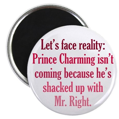 """Prince Charming & Mr. Right 2.25"""" Magnet (100 pack"""