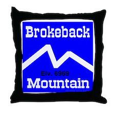 Brokeback Mountain Elv. 6969 Throw Pillow