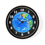 PLANETARY SERIES:  Earth Wall Clock