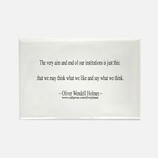 Oliver Wendell Holmes Rectangle Magnet