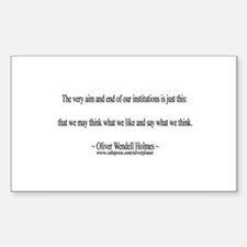 Oliver Wendell Holmes Rectangle Bumper Stickers