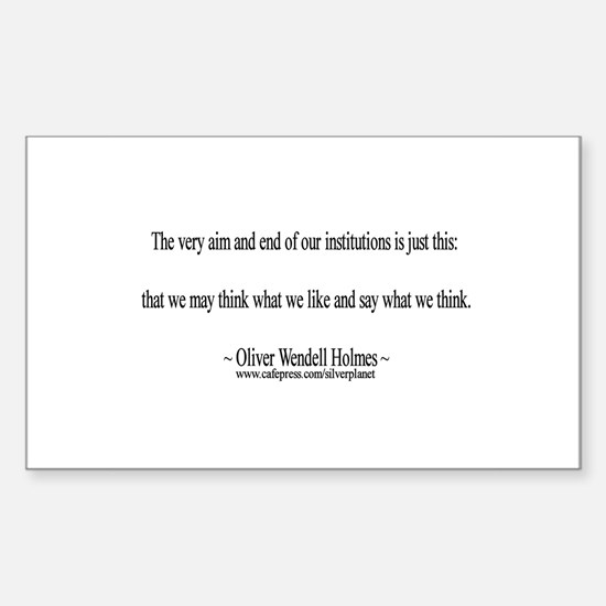 Oliver Wendell Holmes Rectangle Decal