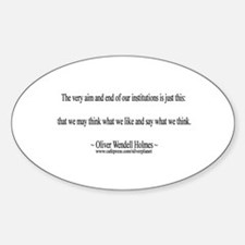 Oliver Wendell Holmes Oval Decal