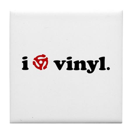 Vinyl Love Tile Coaster