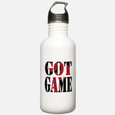 Got Game Black Red Water Bottle