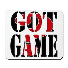 Got Game Black Red Mousepad