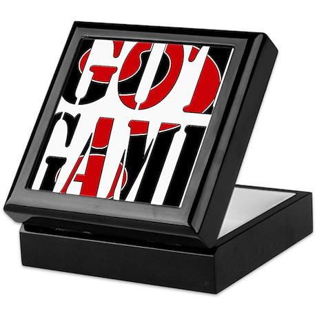 Got Game Black Red Keepsake Box