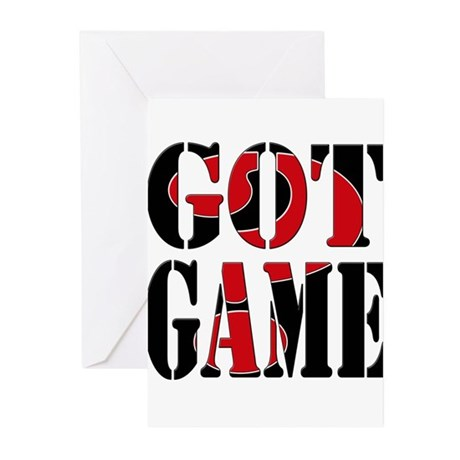 Got Game Black Red Greeting Cards (Pk of 20)