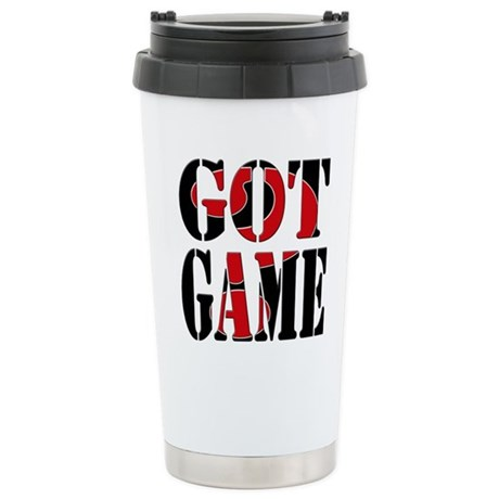 Got Game Black Red Stainless Steel Travel Mug