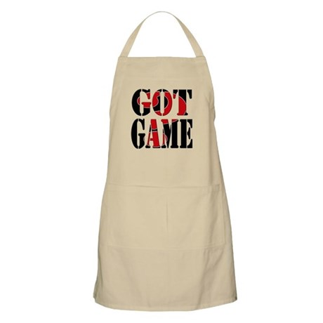 Got Game Black Red Apron