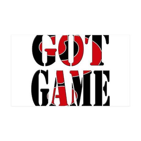 Got Game Black Red 38.5 x 24.5 Wall Peel
