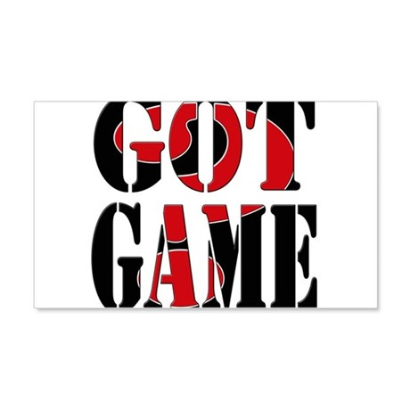 Got Game Black Red 22x14 Wall Peel