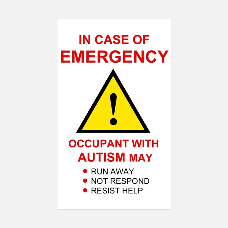 Autism Warning Sticker for Home (10 pack)