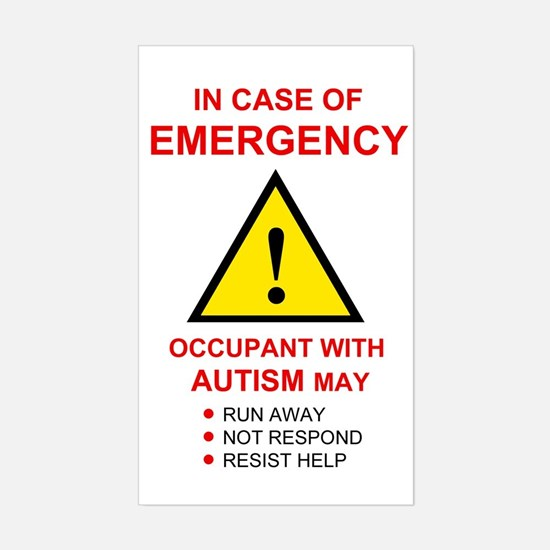 Autism Emergency Warning Sticker for Home
