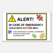 Autism Warning Sticker for Car (10-pack)