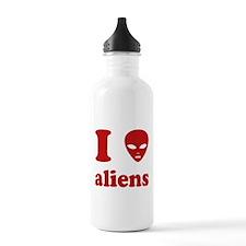 I Love Aliens Water Bottle