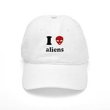 I Love Aliens Baseball Cap