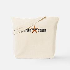 Punta Cana Starfish Black Tote Bag