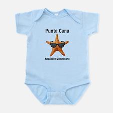 Punta Cana BIG Starfish Black Infant Bodysuit