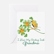 I Love My Smiling Irish Grandma Greeting Card