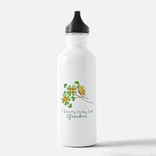 I Love My Smiling Irish Grandma Water Bottle