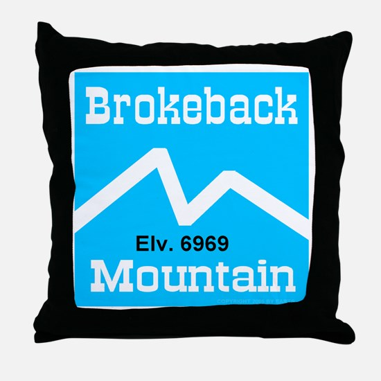 Brokeback Mountain Elv. 6969 Throw Pillow