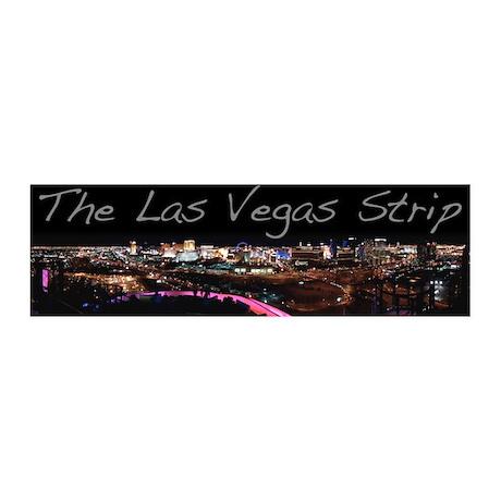 Vegas Strip At Night Vinyl Peel 36x11 Wall Decal