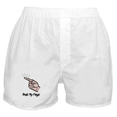 Smell My Finger Boxer Shorts