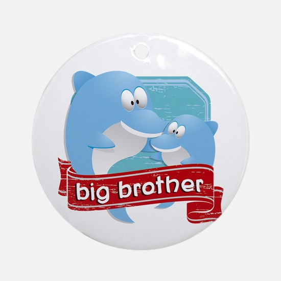 Big Brother Dolphin Ornament (Round)