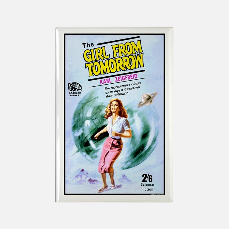 Girl From Tomorrow Rectangle Magnet