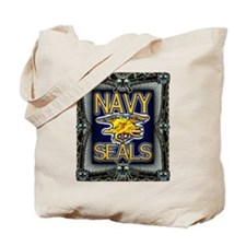 US Navy Seals Skull Tote Bag