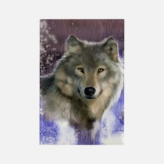Wolf Still Life Rectangle Magnet