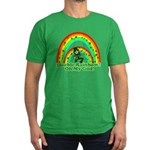 Double Rainbow Oh My God Men's Fitted T-Shirt (dar