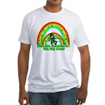 Double Rainbow Oh My God Fitted T-Shirt