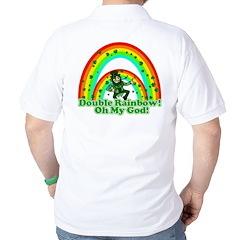 Double Rainbow Oh My God Golf Shirt