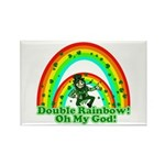Double Rainbow Oh My God Rectangle Magnet (10 pack