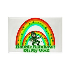 Double Rainbow Oh My God Rectangle Magnet (100 pac