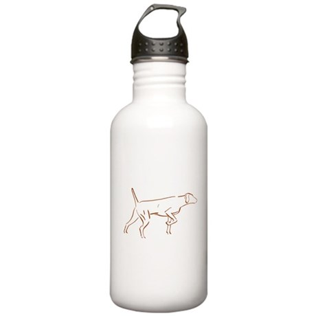 Vizsla Pointing Silouette Stainless Water Bottle 1
