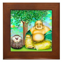 'Lulu and the Laughing Buddha' Framed Tile