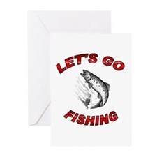 Lets Go fishing Greeting Cards (Pk of 20)