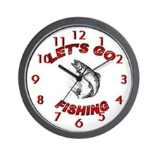 Lets Go fishing Wall Clock 10inch