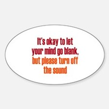 Sound of a Blank Mind Decal