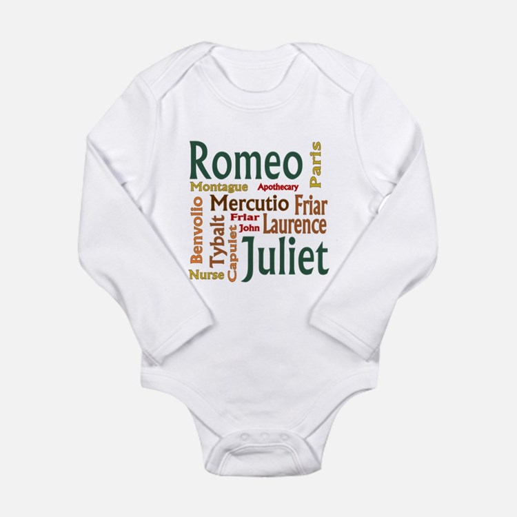 Romeo & Juliet Characters Long Sleeve Infant Bodys