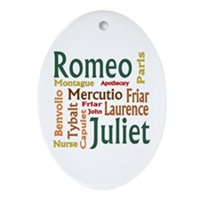Romeo & Juliet Characters Ornament (Oval)